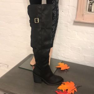 Shoes - Black over knee boots SALE